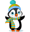 Cute winter penguin