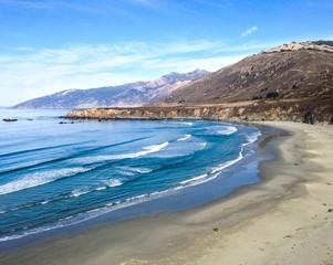 ocean coastline in big sur area in california