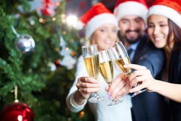 New Year toast