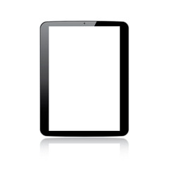 Modern responsive tablet computer vector - isolated on white