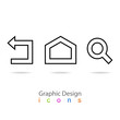 graphic design set icon sign