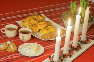 Swedish advent celebration
