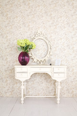 Beautiful wooden carved dressing table with blank frame