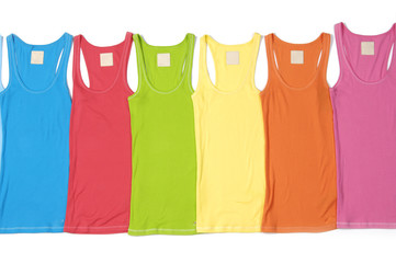 Six colorful long shirt clothes