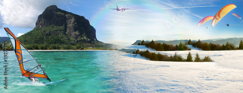 canvas print picture Concept vacances