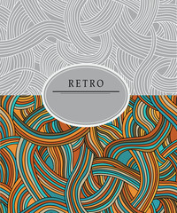 Retro cover with a colored pattern