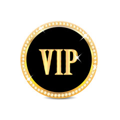 medal with the word vip  isolated on white background.insignia i