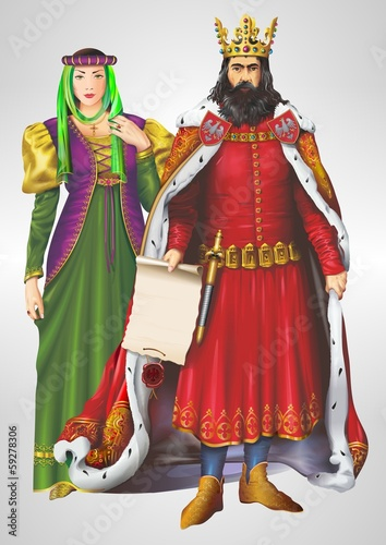 King and Queen Illustration