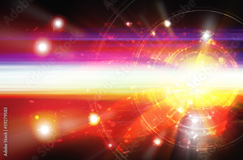 Fotobehang Abstract wave abstract energy explode background