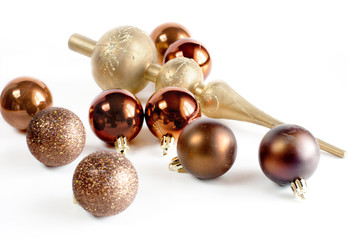 Christmas balls closeup