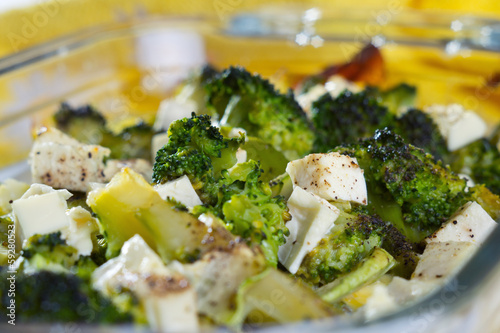 Casserole of broccoli