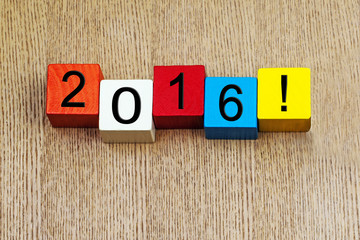 2016 - sign for the new year