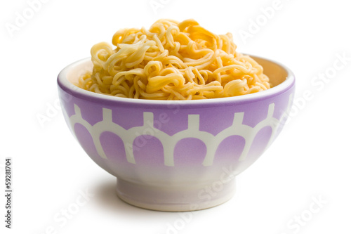 boiled chinese noodles in bowl