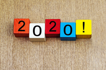 2020 - sign for the new year