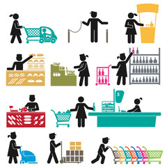 EMPLOYEES IN THE SUPERMARKET