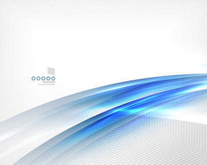 Blue vector blur motion lines business template