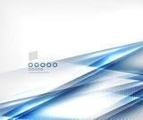 Blue vector blur motion lines business template
