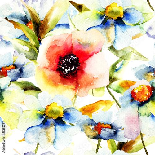 Obraz Seamless pattern with flower