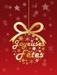 """CARTE """"JOYEUSES FETES"""" (meilleurs voeux joyeux noël bonne année)"""