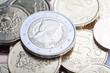 Latvian euro coins.