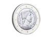 Latvian euro coin.