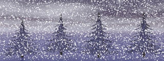 winter landscape in northwest...