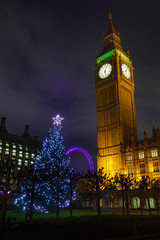 Big Ben on a Christmas Night