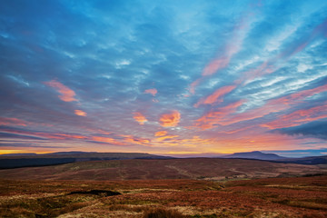 Yorkshire Dales At Sunset