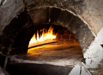 A traditional oven for cooking.