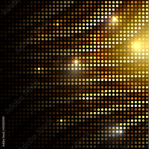 Abstract golden dotted background