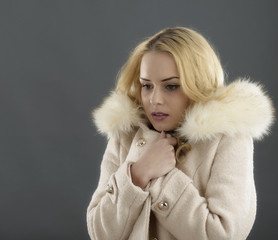 Fur Fashion.Beautiful Woman in Luxury Fur Coat