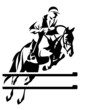 show-jumping horseman vector design