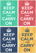 Постер, плакат: Keep calm and carry on mockup
