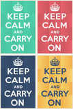 Keep calm and carry on mockup poster