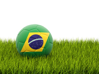 Football with flag of brazil
