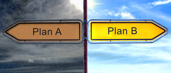 STrassenschild 2 - Plan B