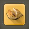 Open book, vector flat icon