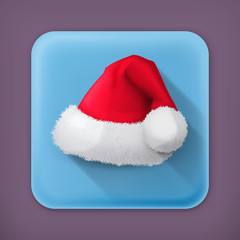 Santa Claus hat, vector flat icon