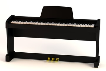 realistic 3d render of digital piano