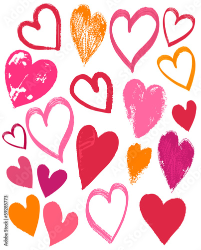 hand drawing valentines heart, vector