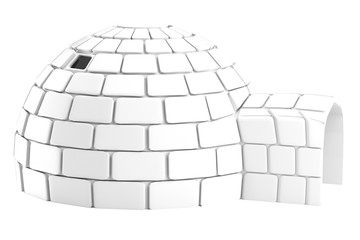realistic 3d render of igloo