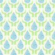 Go Green Water Drop with Hands Seamless Pattern