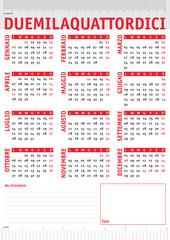 rulers italian calendar 2014
