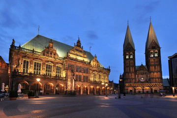 Bremen city hall and cathedral