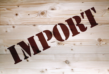 Brown import article on natural wooden background