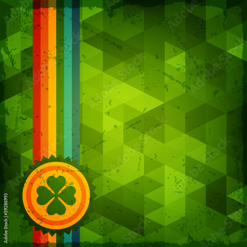 Saint Patrick's Day abstract grunge background.