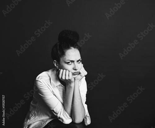 Портрет сердитой женщины © Tatiana Koshutina