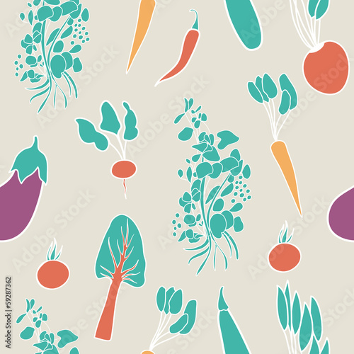 Vegetable seamless background