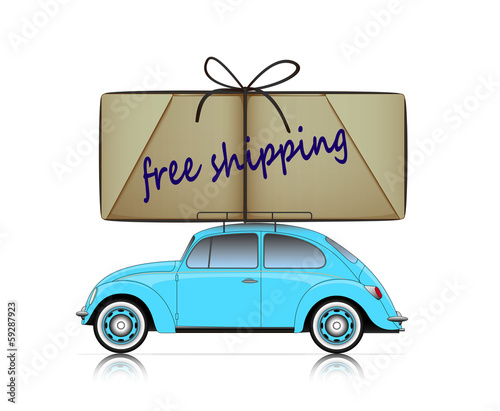 compact car with free shipping parcel