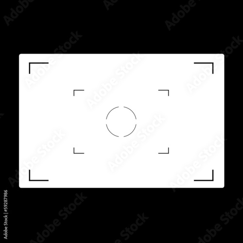 aperture black and white vector illustration